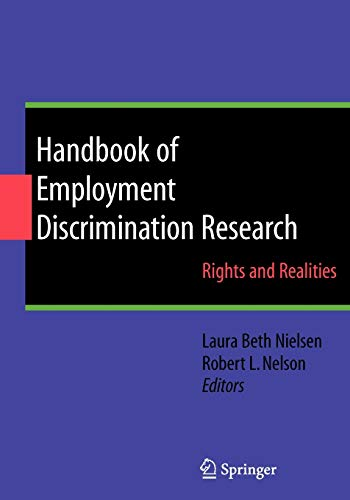 9780387094663: Handbook of Employment Discrimination Research: Rights and Realities