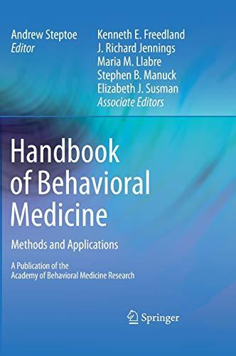 Handbook of Behavioral Medicine: Methods and Applications: Kenneth Freedland (Adapter),
