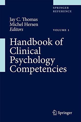 Handbook of Clinical Psychology Competencies (3 Volume