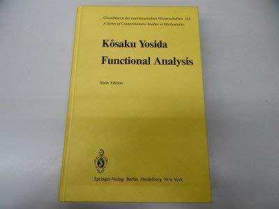 9780387102108: Functional Analysis (Grundlehren Der Mathematischen Wissenschaften)