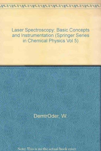 9780387103433: Laser Spectroscopy: Basic Concepts and Instrumentation
