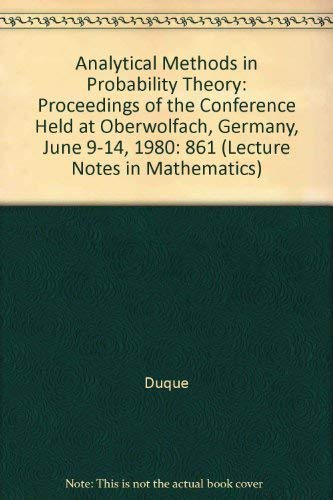 Analytical Methods in Probability Theory: Dugue, D., E.