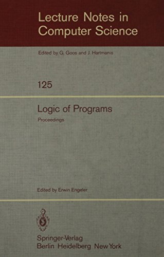 Logic of Programs (Lecture Notes in Computer Science): Engeler, E.