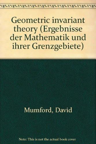 9780387112909: Geometric Invariant Theory (Ergebnisse der Mathematik und Ihrer Grenzgebiete, Vol. 34)