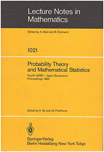 Probability Theory and Mathematical Statistics: Proceedings of: Ussr-Japan Symposium on