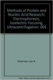 Methods of Protein and Nucleic Acid Research: Osterman, Lev A.