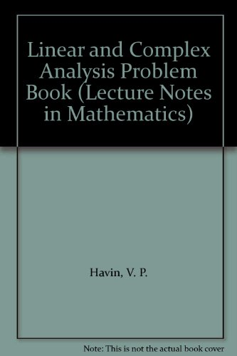 9780387128696: Linear and Complex Analysis Problem Book: 199 Research Problems