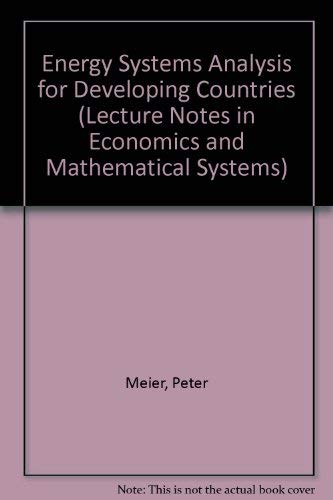 Energy Systems Analysis for Developing Countries (Lecture: Meier, Peter