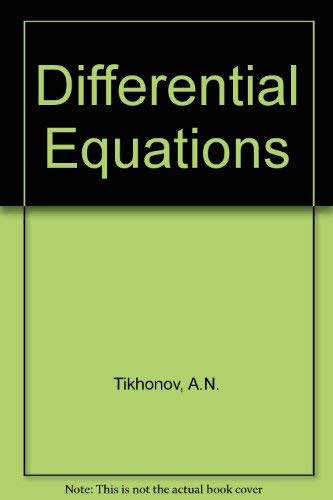 Differential Equations.: Tikhonov, A.N., A.B.