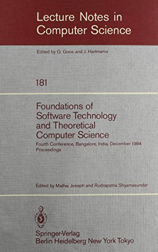 Foundations of Software Technology and Theoretical Computer Science (Lecture Notes in Computer ...