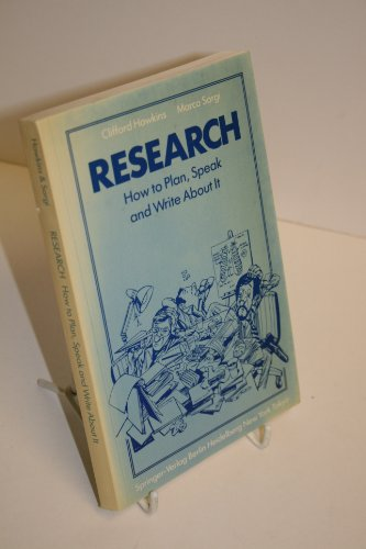 9780387139920: Research: How to plan, speak and write about it