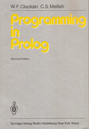 9780387150116: Programming in PROLOG
