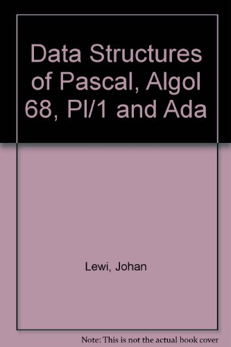 9780387151212: Data Structures of Pascal, Algol 68, Pl/1 and Ada