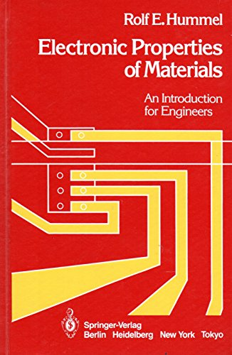 9780387156316: Electronic Properties of Materials: An Introduction for Engineers