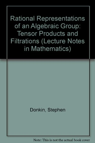9780387156682: Rational Representations of an Algebraic Group: Tensor Products and Filtrations (Lecture Notes in Mathematics)