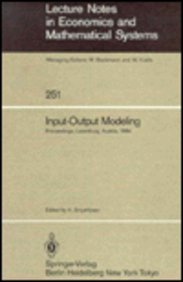 Input-Output Modeling (Lecture Notes in Economics and: n/a