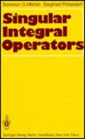 9780387159676: Singular Integral Operators (English and German Edition)