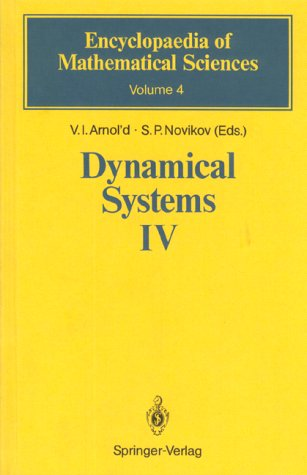 Dynamical Systems IV: Symplectic Geometry and Its: V. I. Arnold,