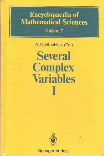 Several Complex Variables I: Introduction to Complex: A. G. Vitushkin