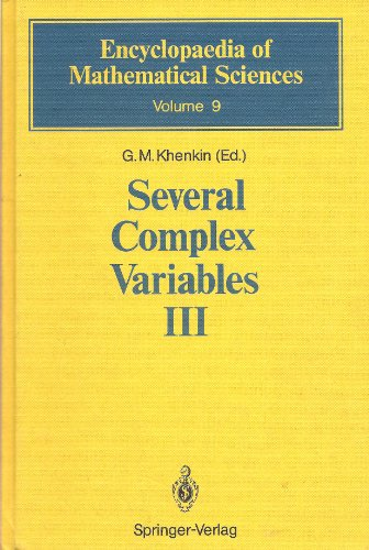 Several Complex Variables III: Geometric Function Theory: G.M Khenkin