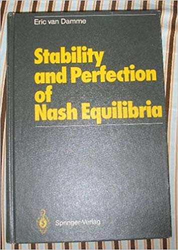 9780387171012: Stability and perfection of Nash equilibria