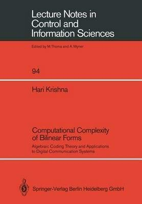Computational Complexity of Bilinear Forms: Algebraic Coding: Krishna, Hari