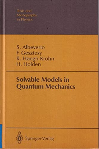 9780387178417: Solvable Models in Quantum Mechanics (Texts & Monographs in Physics)