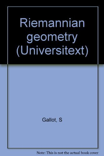 Riemannian geometry (Universitext): S Gallot