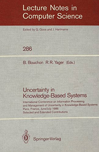Uncertainty in Knowledge-Based Systems (Lecture Notes in Computer Science): Bouchon, B.