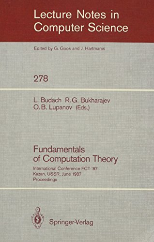 Fundamentals of Computation Theory (Lecture Notes in: n/a