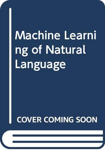 9780387195575: Machine Learning of Natural Language