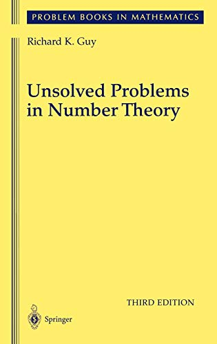 9780387208602: Unsolved Problems in Number Theory (Problem Books in Mathematics)