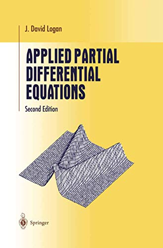 Applied Partial Differential Equations.: Logan, J. David:
