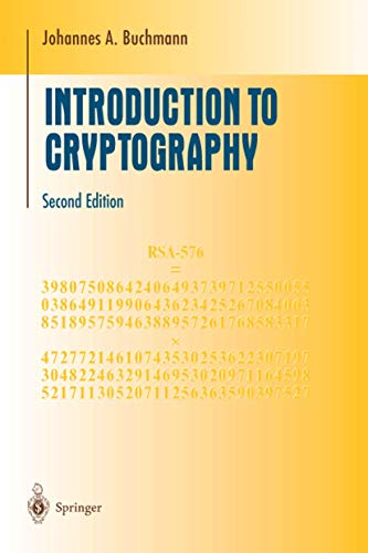 Introduction to Cryptography (Undergraduate Texts in Mathematics): Johannes Buchmann