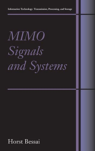 MIMO Signals and Systems (Information Technology: Transmission,: Bessai, Horst