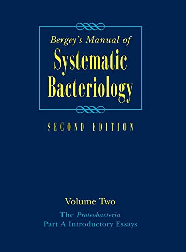 9780387241432: Bergey's Manual® of Systematic Bacteriology: Volume Two: The Proteobacteria, Part A Introductory Essays (Bergey's Manual of Systematic Bacteriology (Springer-Verlag))