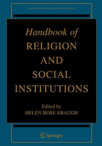Handbook of Religion and Social Institutions (Paperback)