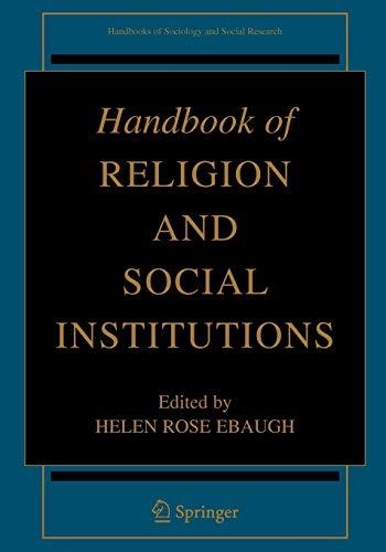 Handbook of Religion and Social Institutions: Helen R. Ebaugh