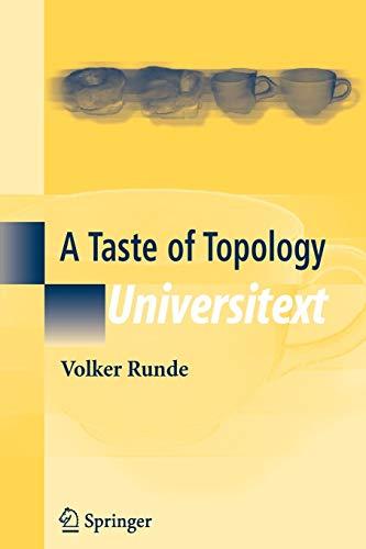 9780387257907: A Taste of Topology (Universitext)