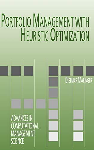 9780387258522: Portfolio Management with Heuristic Optimization (Advances in Computational Management Science)