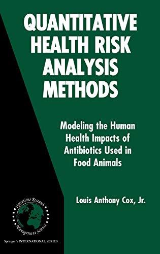 Quantitative Health Risk Analysis Methods: Modeling the