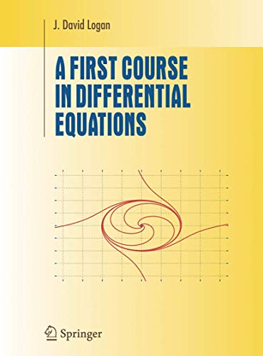 9780387259635: First Course in Differential Equations