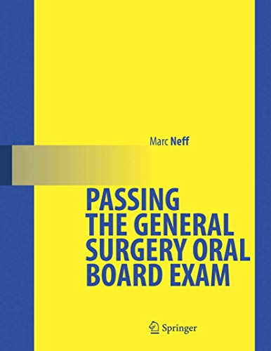 9780387260778: Passing the General Surgery Oral Board Exam