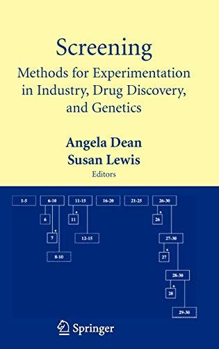 Screening: Methods for Experimentation in Industry, Drug