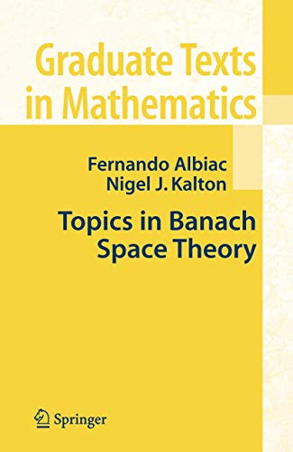 9780387281414: Topics in Banach Space Theory (Graduate Texts in Mathematics)
