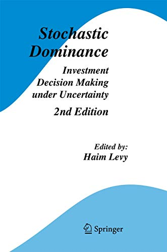 9780387293028: Stochastic Dominance: Investment Decision Making under Uncertainty (Studies in Risk and Uncertainty)