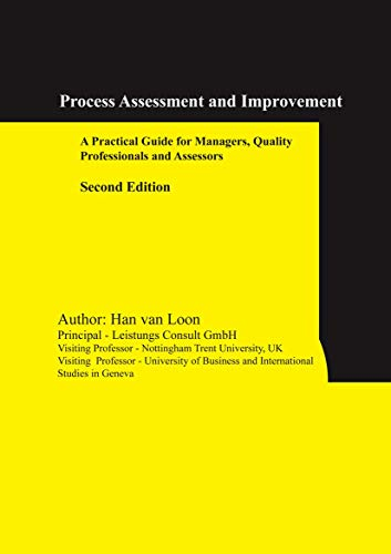9780387300443: Process Assessment and Improvement: A Practical Guide