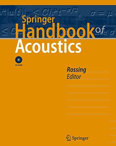 9780387304465: Springer Handbook of Acoustics
