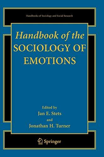 9780387307138: Handbook of the Sociology of Emotions