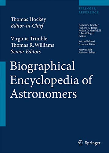 9780387310220: Biographical Encyclopedia of Astronomers (Springer Reference)